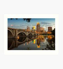Third Avenue Bridge in Minneapolis Art Print