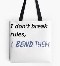 I DON'T BREAK RULES KORRA SHIRT Tote Bag