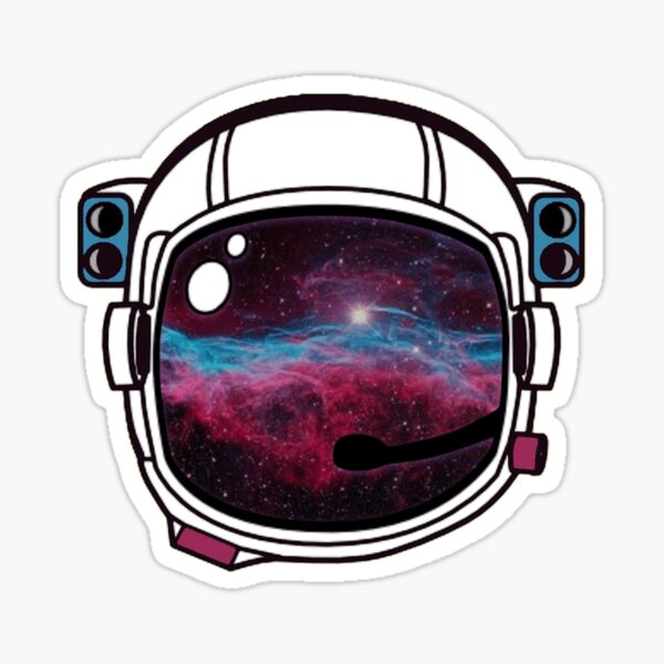 Outer Space Galaxy Astronaut Helmet Sticker