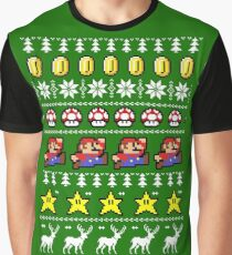 Super Mario 8-bit Ugly Christmas Graphic T-Shirt