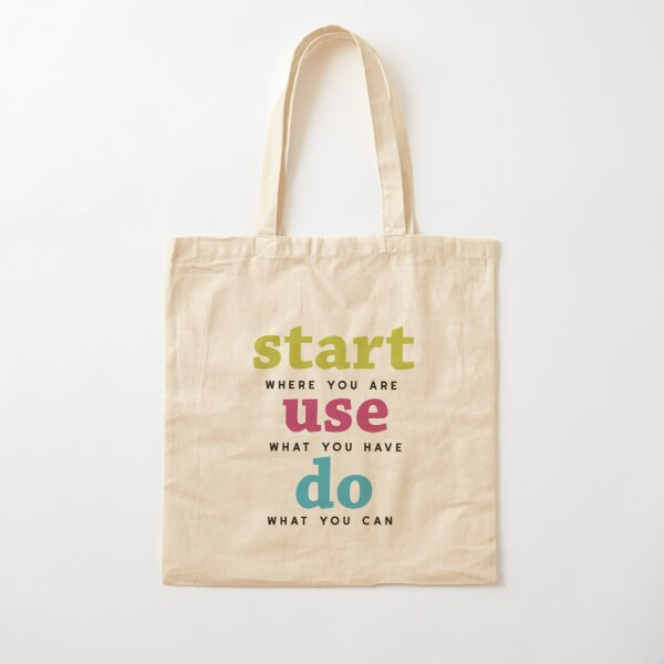 Start, Use and Do Cotton Tote Bag