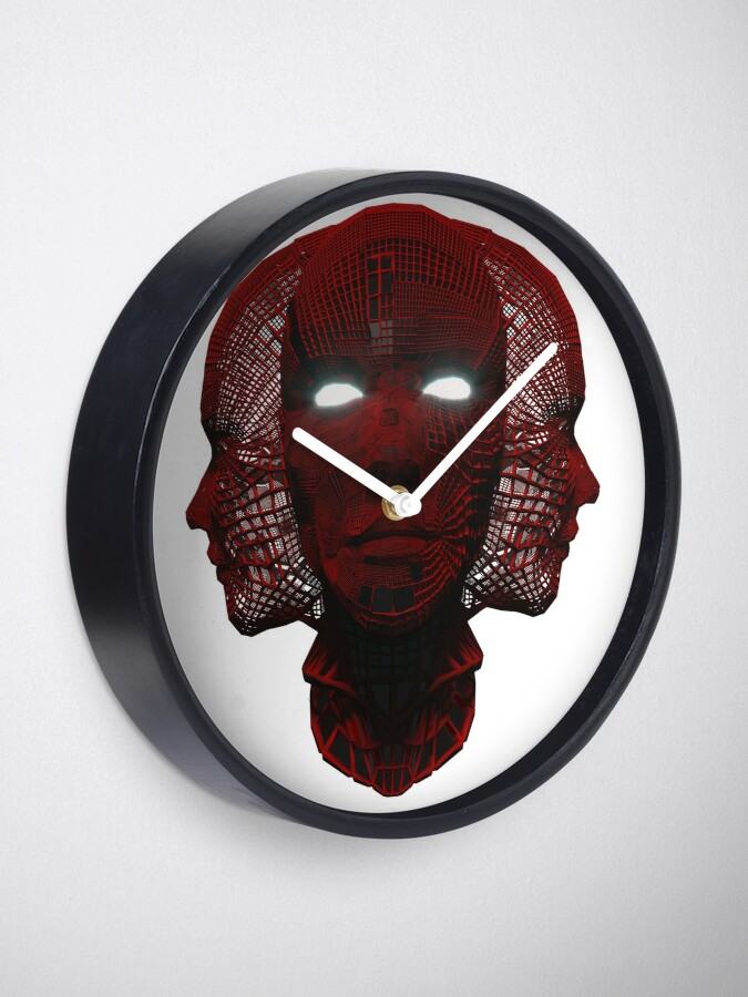 Alternate view of 3_Red_Face Clock