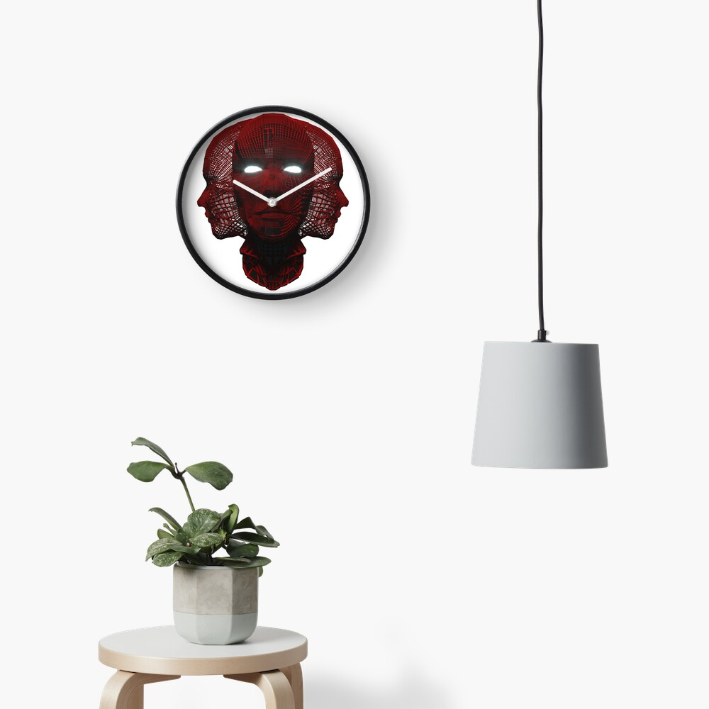 3_Red_Face Clock