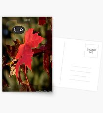 Red ~ iphone Case Postcards