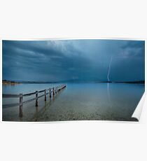 Summer Storms Mortimer Bay - Hobart Poster