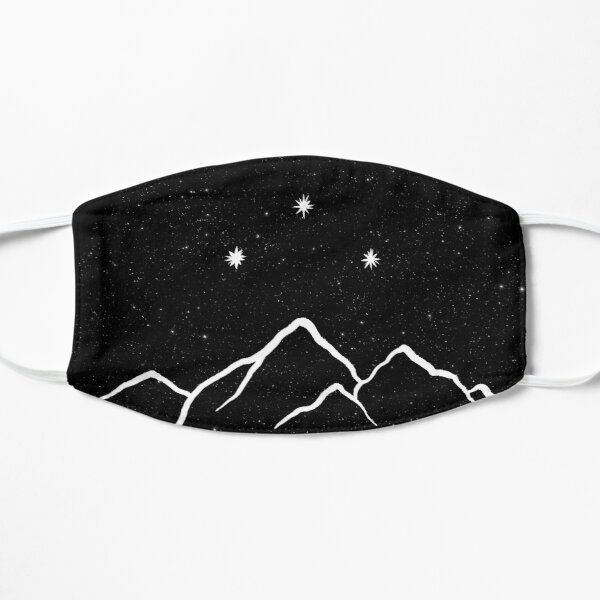 Night court - starry black and white Mask