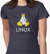 Tux the Penguin flatshaded Women's Fitted T-Shirt