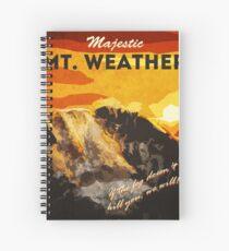 The 100 - Vintage Travel Poster (Mt. Weather) Spiral Notebook