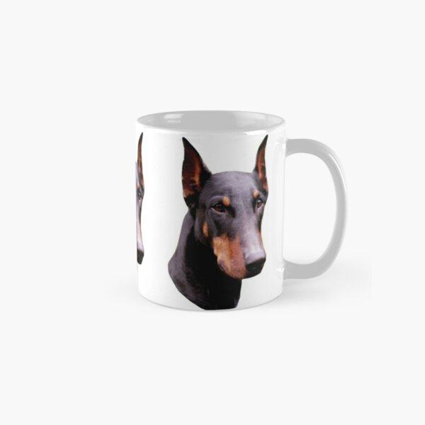 Pretty Black Doberman Pinscher Face  Classic Mug