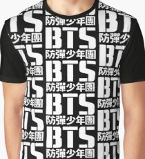 BTS Bangtan Boys Logo/Text 2 Graphic T-Shirt