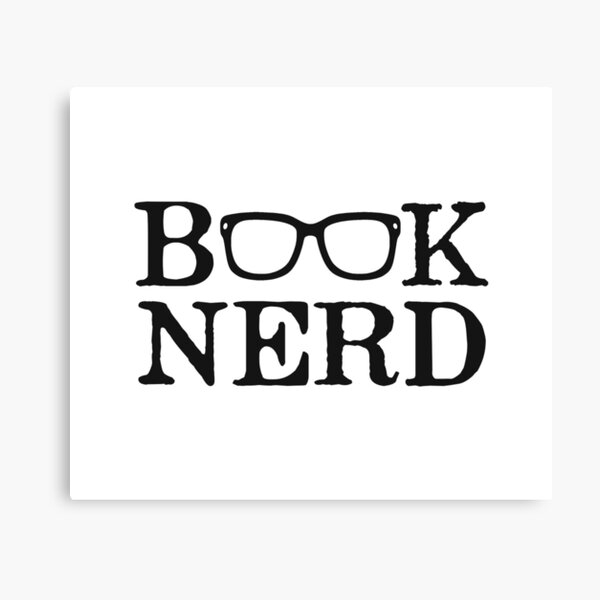 Buch Nerd Nerdy Brille Leinwanddruck
