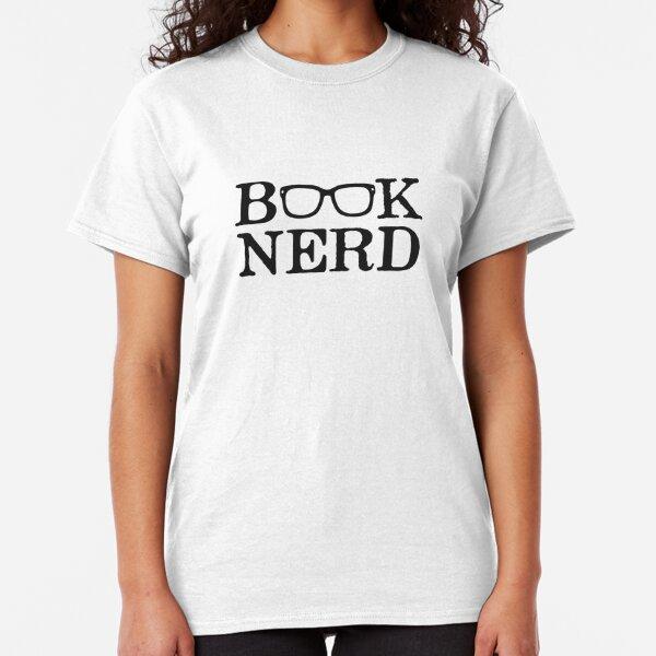 Girls T-Shirt Book Nerd Funny Geek Book Worm  Kids Boys