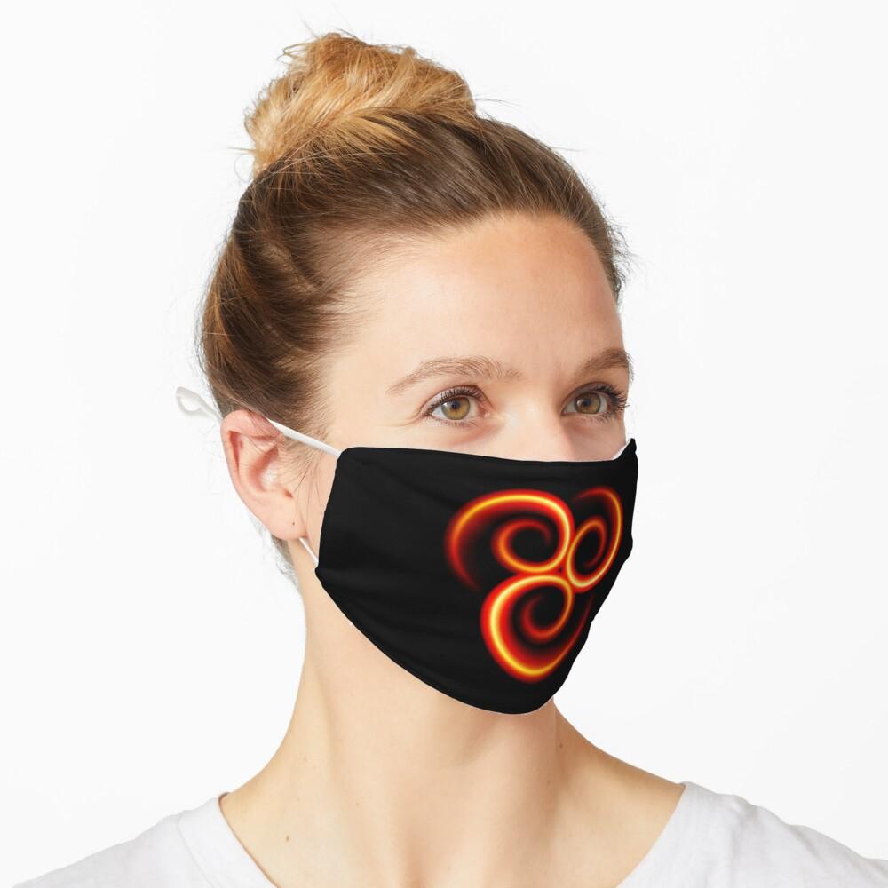Flammende Triskele Triskelion - brainbubbles Maske