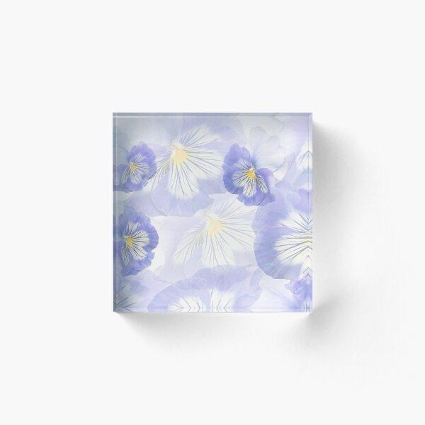 Pansy Mirage Acrylic Block