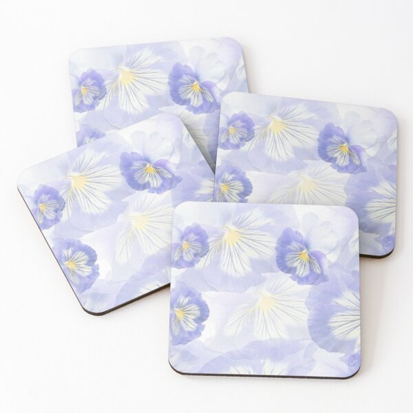 Pansy Mirage Coasters (Set of 4)