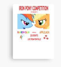 Rainbow Dash vs Applejack Canvas Print