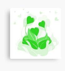 ecology emblem Canvas Print