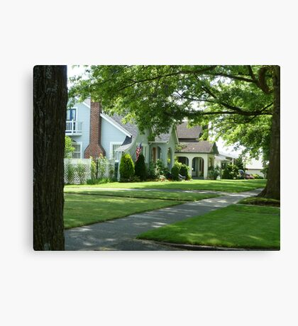 Summer in a small town Canvas Print