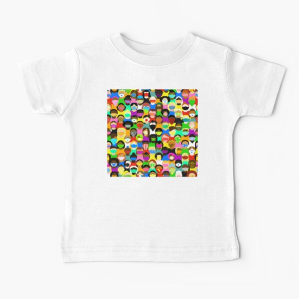 Quilt of Masks Baby T-Shirt