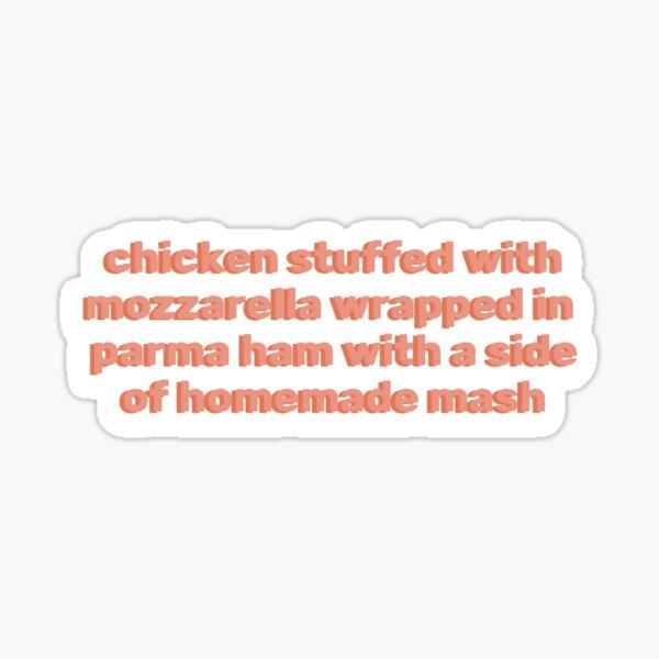 chicken stuffed with mozzarella  Sticker