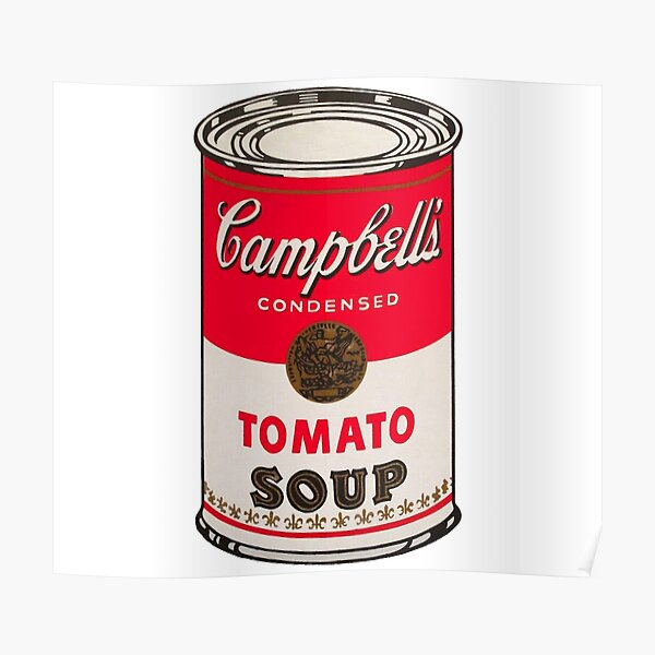 Sopa de tomate - Andy Warhol Póster