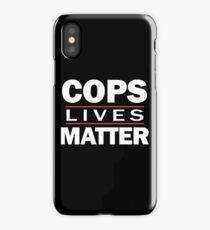 COPS LIVES MATTER. Chicago T-Shirt iPhone Case