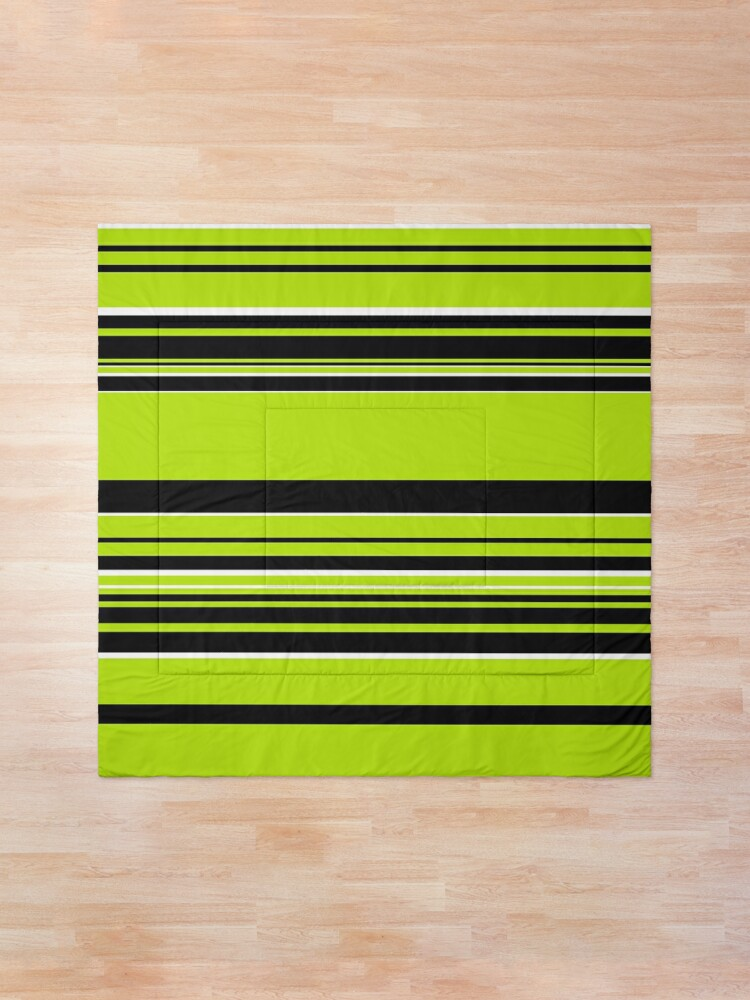 Alternate view of Complex Stripes - Lime Green Comforter