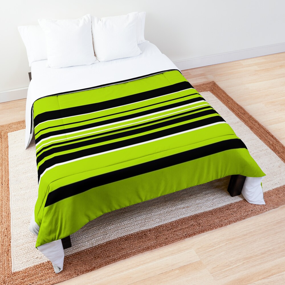 Complex Stripes - Lime Green Comforter