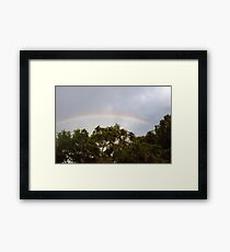 Neighborhood rainbow Framed Print