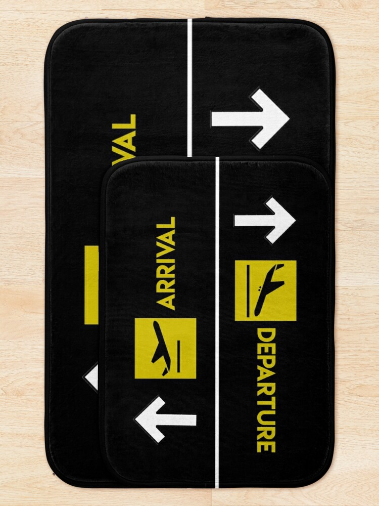 Alternate view of Aviation Departures Arrivals Bath Mat