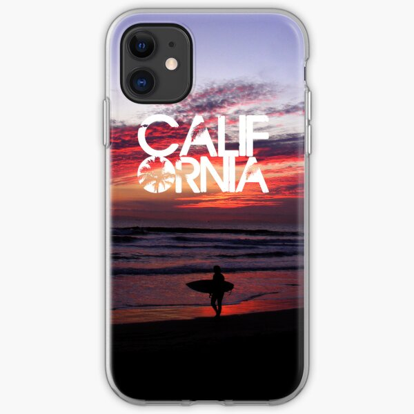 Huntington Beach, California - Surfer iPhone Soft Case