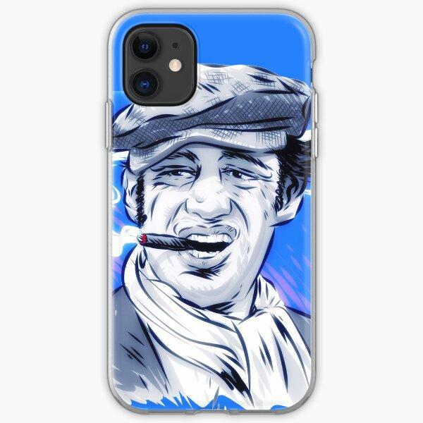 Jean Paul Belmondo - Una ilustración de Paul Cemmick Funda blanda para iPhone