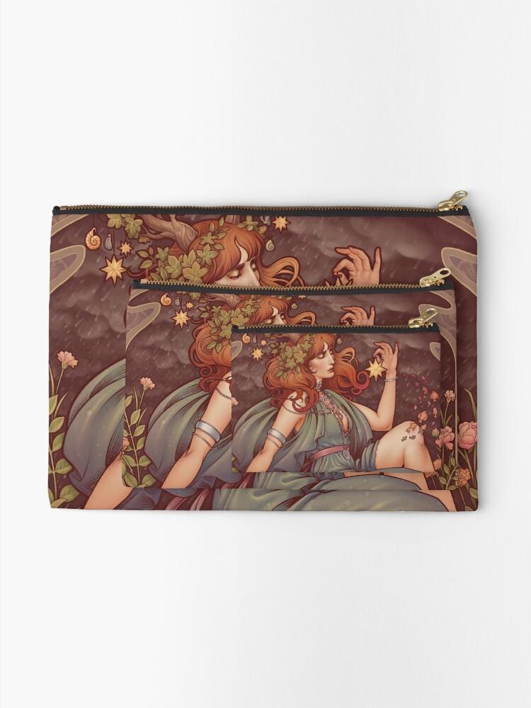 Alternate view of Art Nouveau BOHEMIA Zipper Pouch