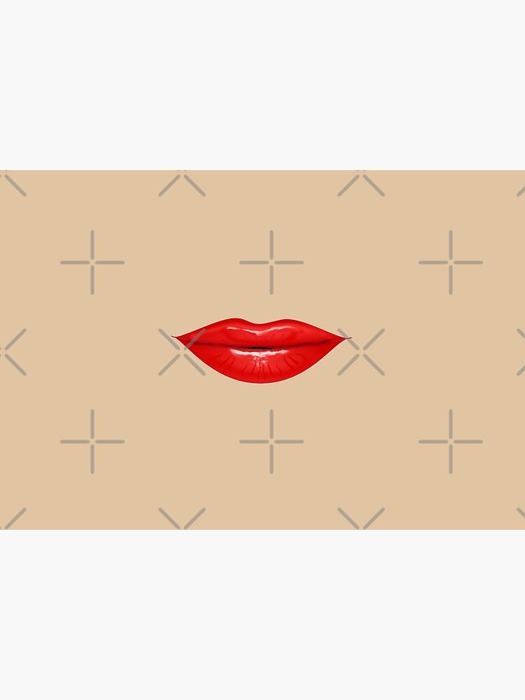 RED LIPS  by BulganLumini