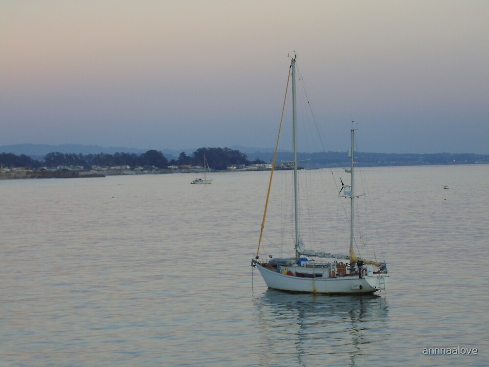 Boat at Sunset by annnaalove