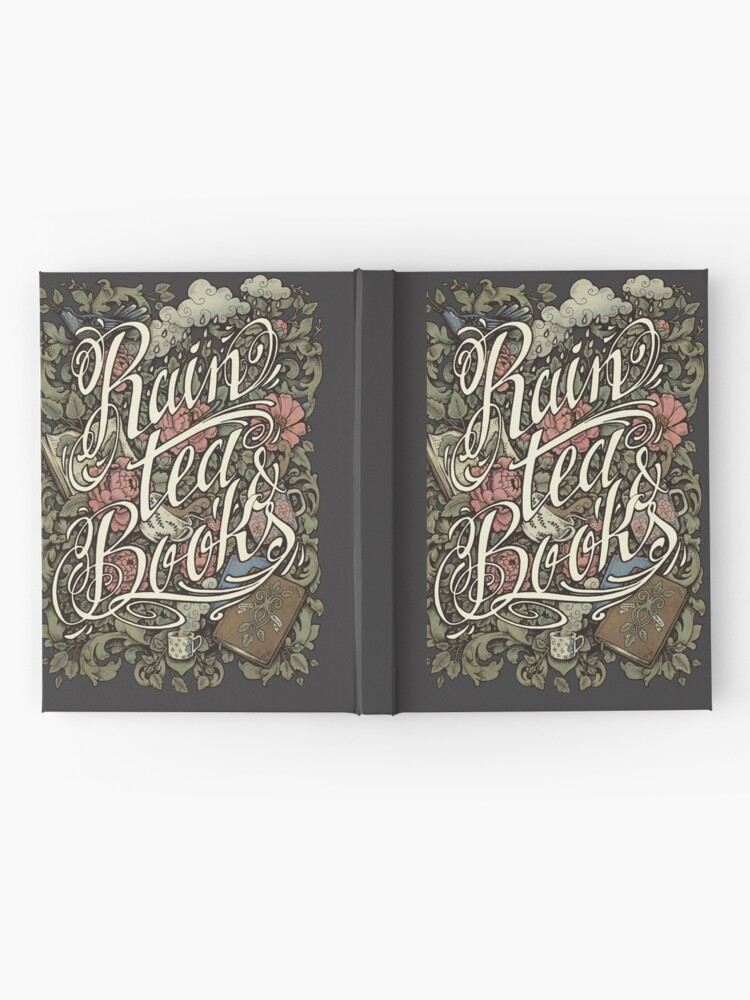 Alternate view of Rain, Tea & Books - Color version Hardcover Journal