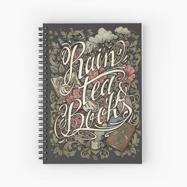 Rain, Tea & Books - Color version Spiral Notebook