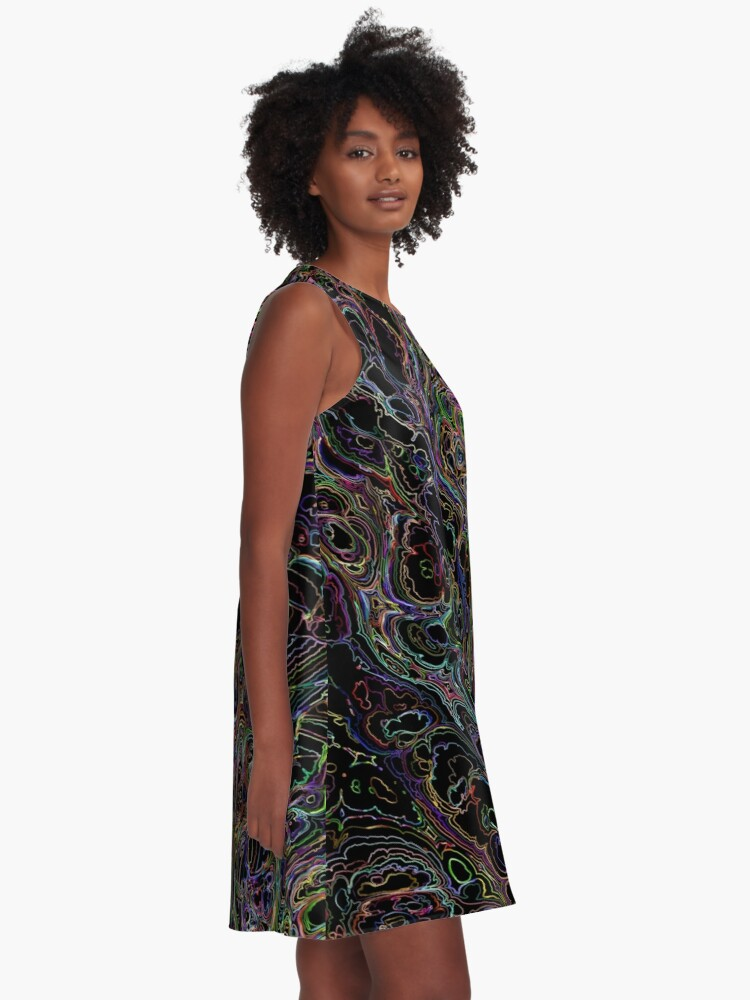 Alternate view of Night Static Design A-Line Dress