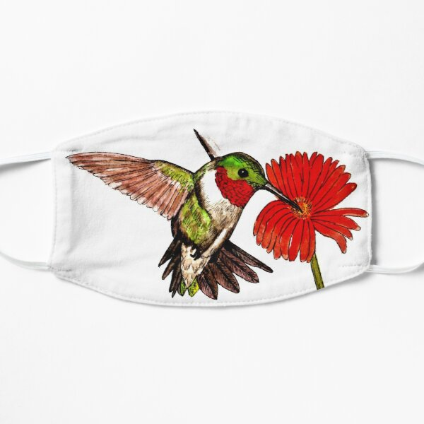 Humming Bird and Flower - Face Mask Mask