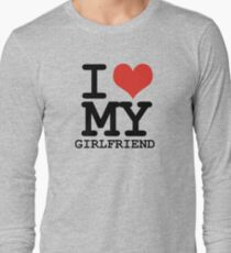 I love my girlfriend Long Sleeve T-Shirt