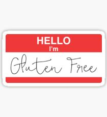 Hello I'm Gluten Free Sticker