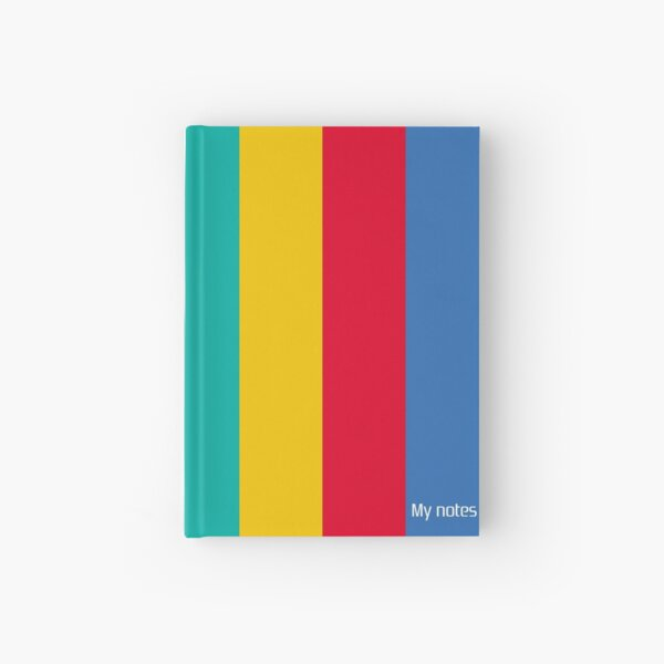My notes - inspired by Playstation colors - Turquoise version Hardcover Journal
