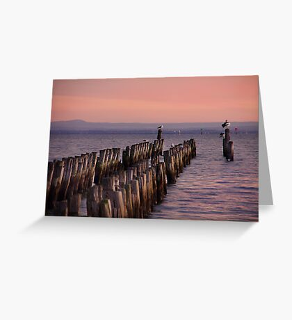 At the end of the jetty Greeting Card