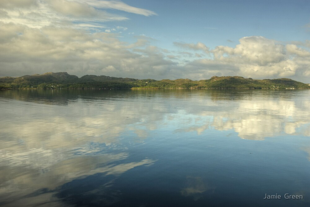 Gairloch...Cloud Reflections by Jamie  Green