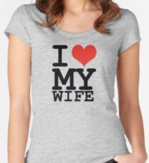 I love my wife Women's Fitted Scoop T-Shirt