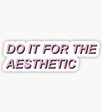 Do It For The Aesthetic Sticker