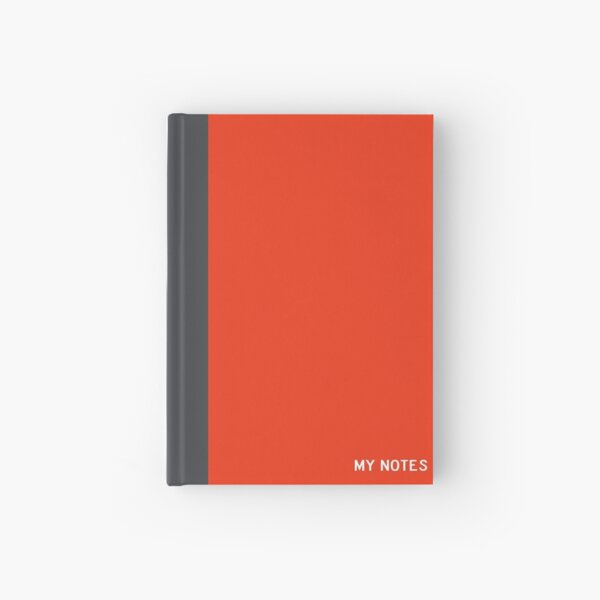 My notes - inspired by Nintendo Switch colors - Red Version Hardcover Journal