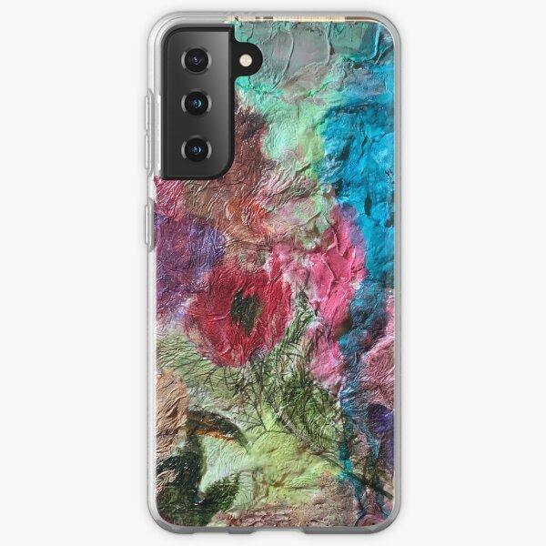 """In the Garden"" Mixed Media Art Samsung Galaxy Soft Case"