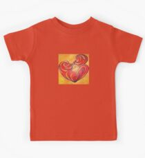 Lovers Kiss And Their Bodies Form A Love Heart Kids Tee