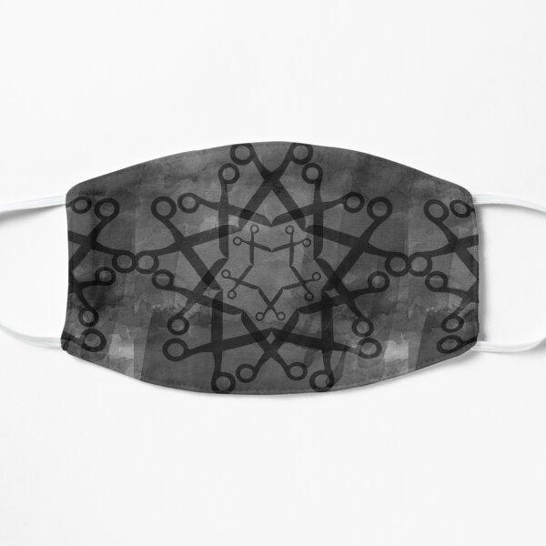 Shears pattern - black and grey Flat Mask